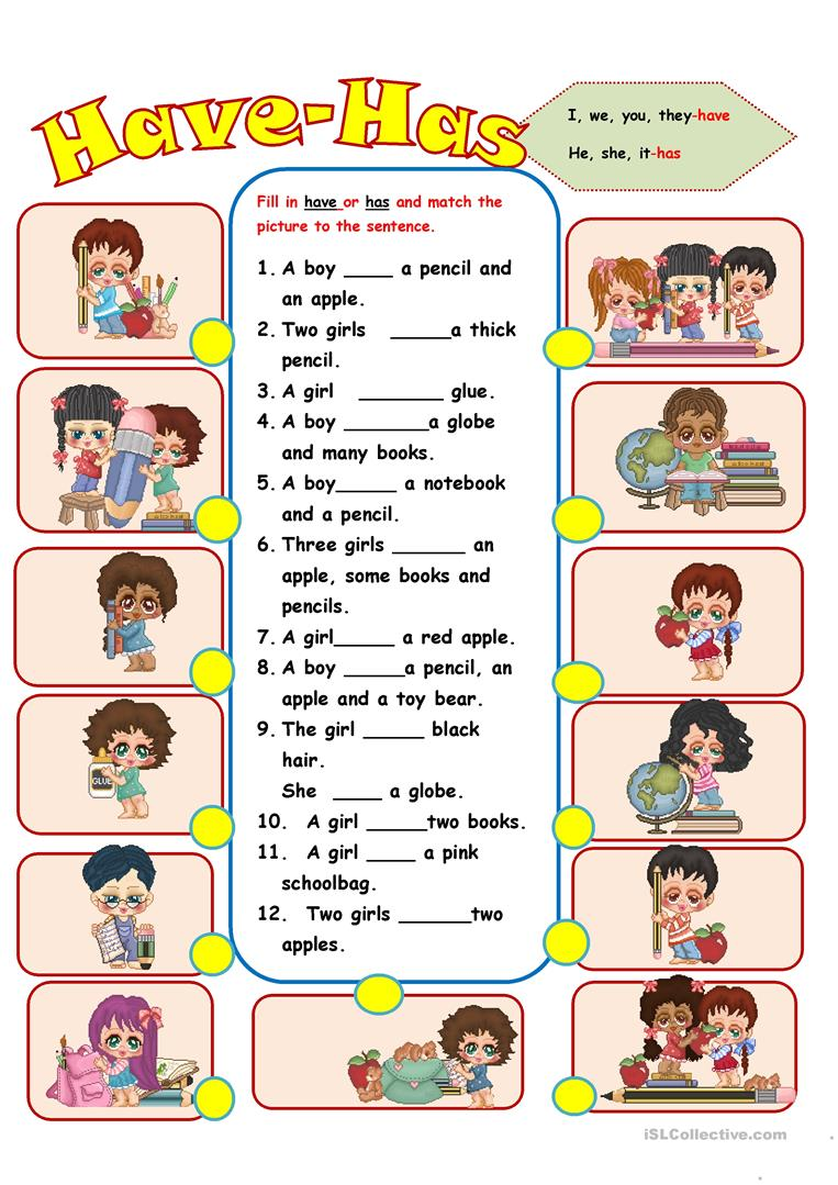 worksheet Has And Have Worksheets have has worksheet free esl printable worksheets made by teachers full screen
