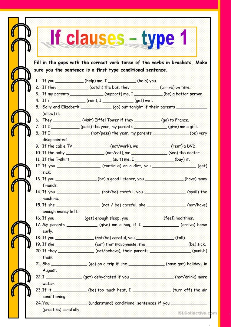 If Clauses Type 1 English Esl Worksheets For Distance Learning