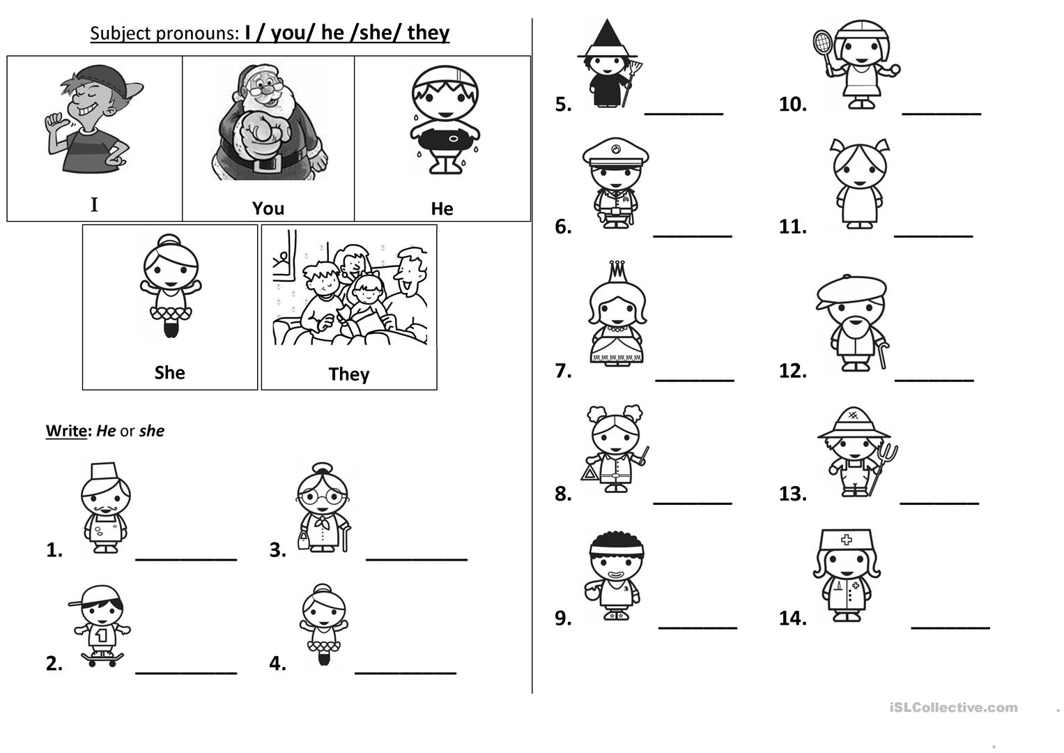 worksheet Esl Subject Pronouns Worksheet 71 free esl subject pronouns worksheets pronouns