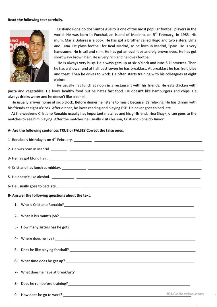 - Test 5th Grade - English ESL Worksheets For Distance Learning And
