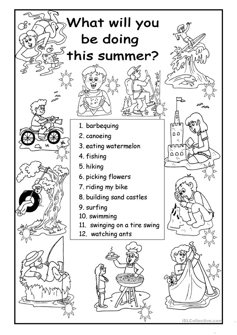 What will you be doing this summer? worksheet - Free ESL printable ...