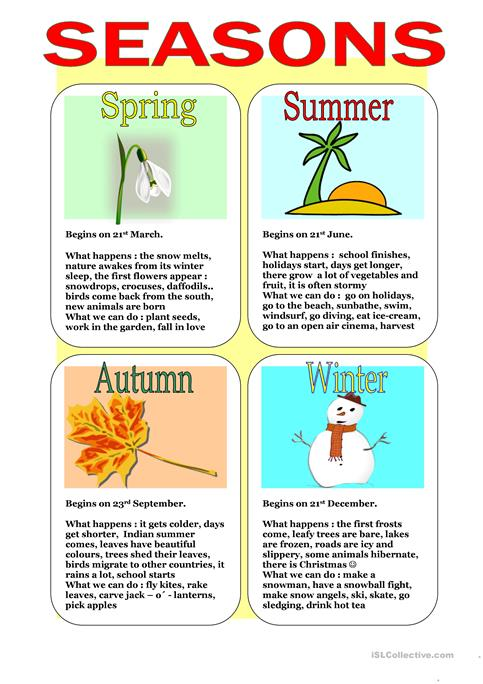 Learn the Months of the Year (& their numbers!), Seasons & Leap ...
