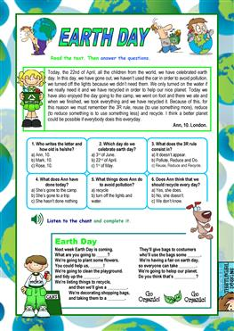 English ESL earth day worksheets - Most downloaded (23 Results)