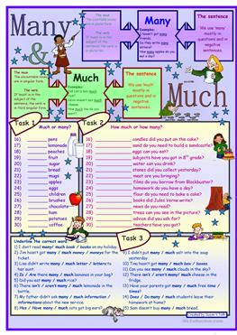 Free Printable Sight Word Worksheets For Kindergarten  Free Esl Much Or Many Worksheets Fact Triangle Worksheets Excel with Introduction To Probability Worksheet Word Many  Much  For Elementary Level   Tasks  With Key  Printable Counting Worksheets Pdf