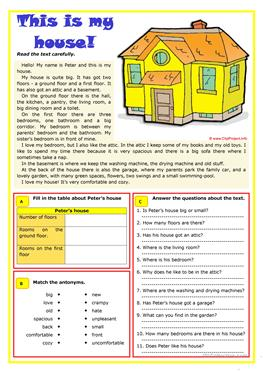 123 free esl rooms in the house worksheets - Rooms In A House Pictures