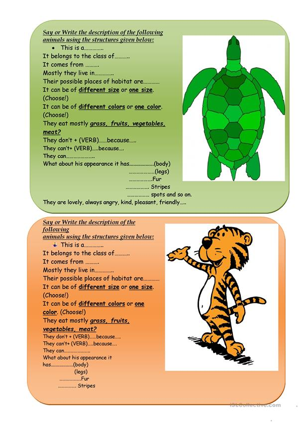 CARDS FOR TALKING ABOUT ANIMALS BACKGROUND.  .