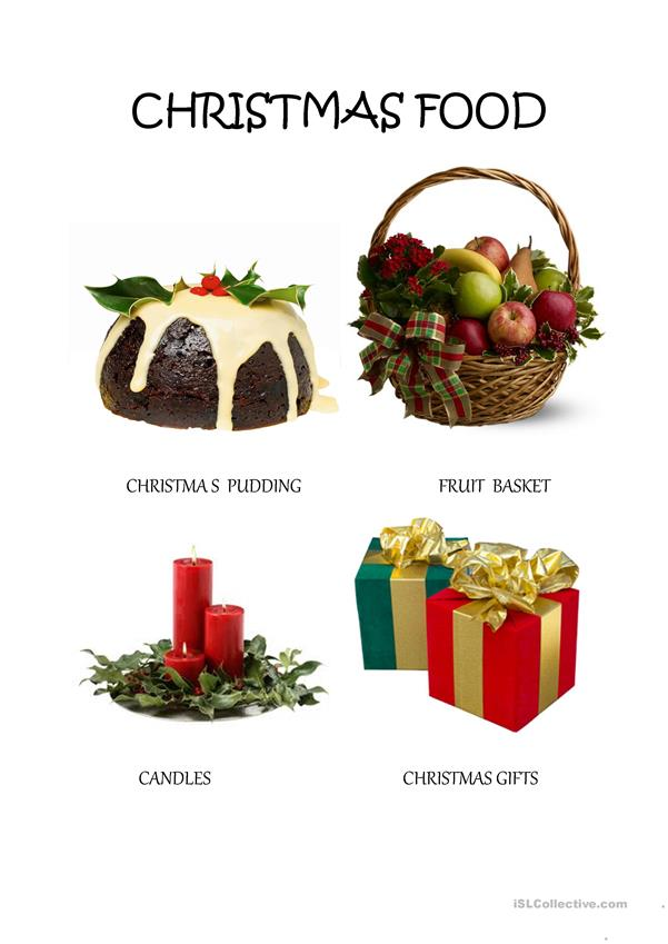Christmas Food Vocabulary