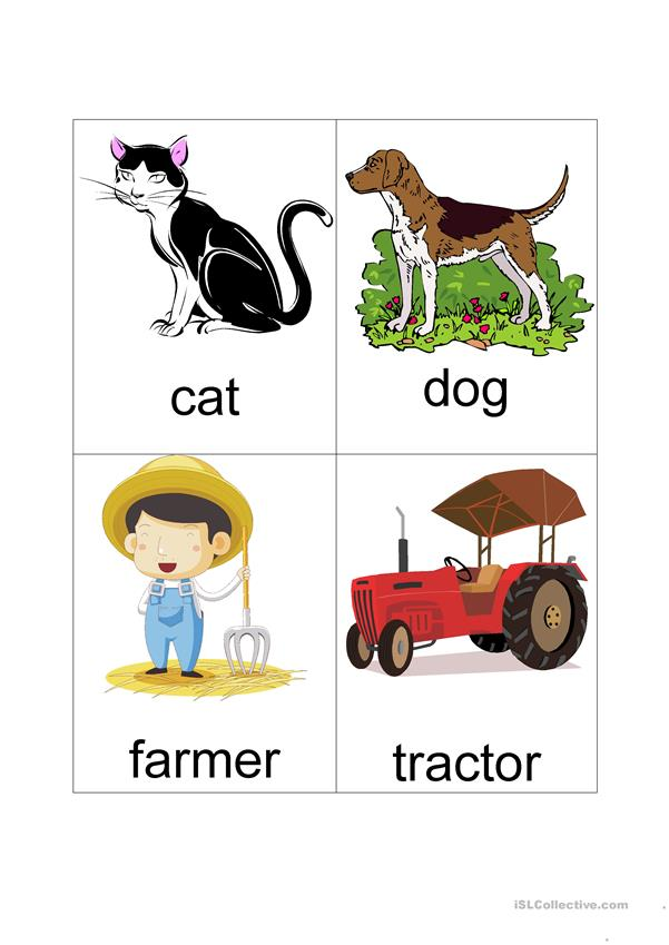 Farm Flash Cards (set of 16)