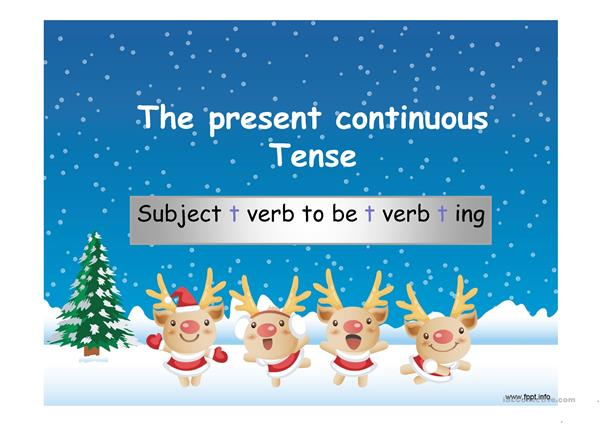 Present continuous tense(a power point presentation review)