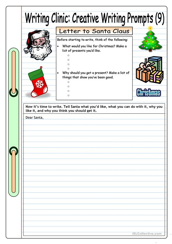 Writing Clinic: Creative Writing Prompts (9) - Letter to Santa Claus