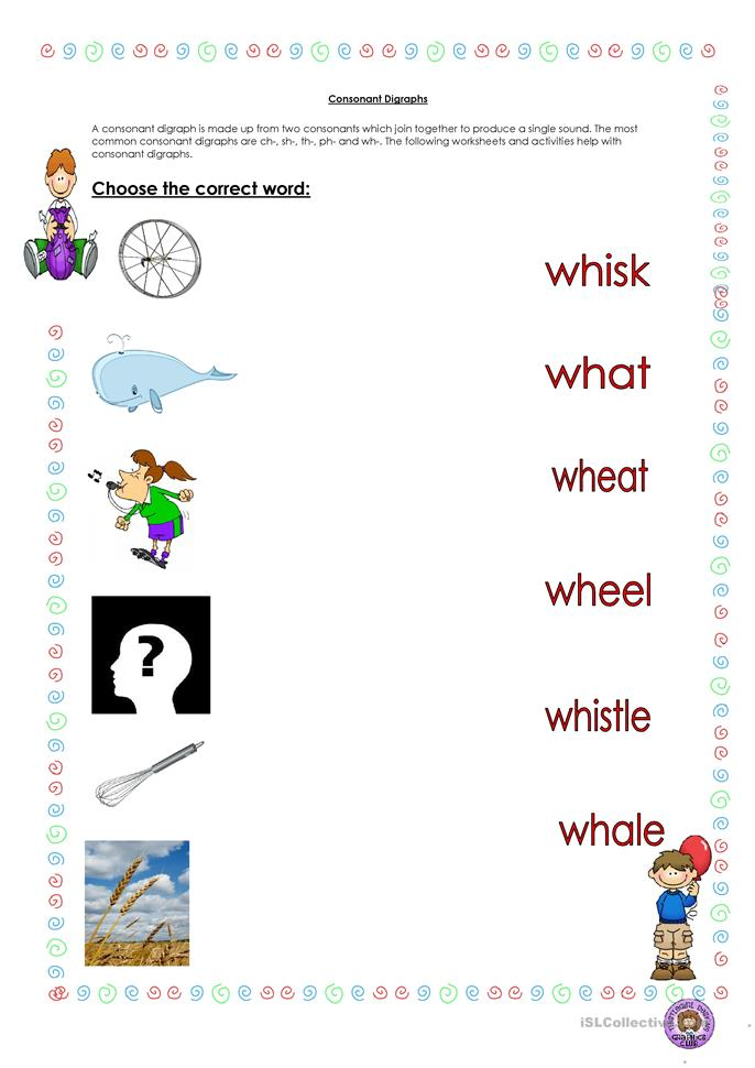 8 FREE ESL digraphs worksheets