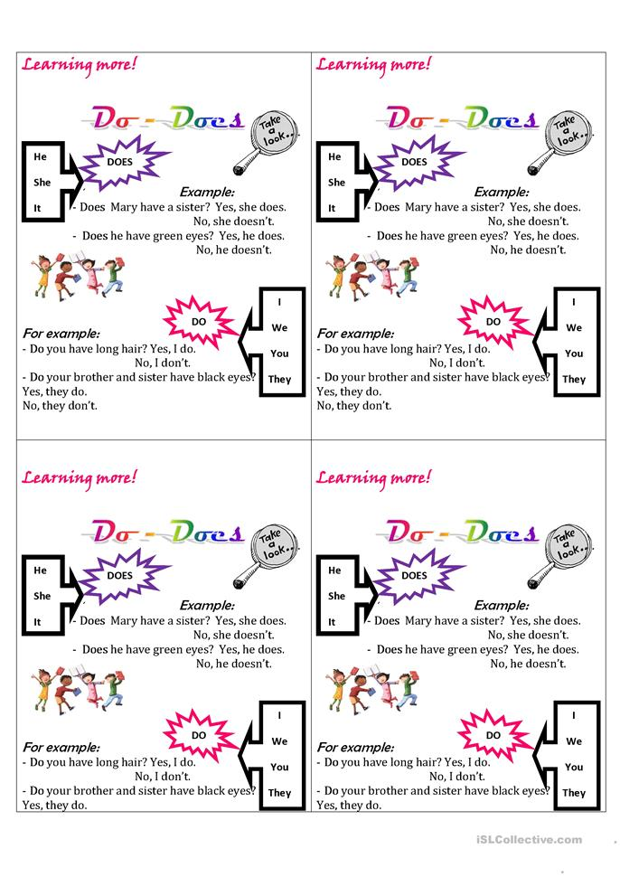 do- does - ESL worksheets