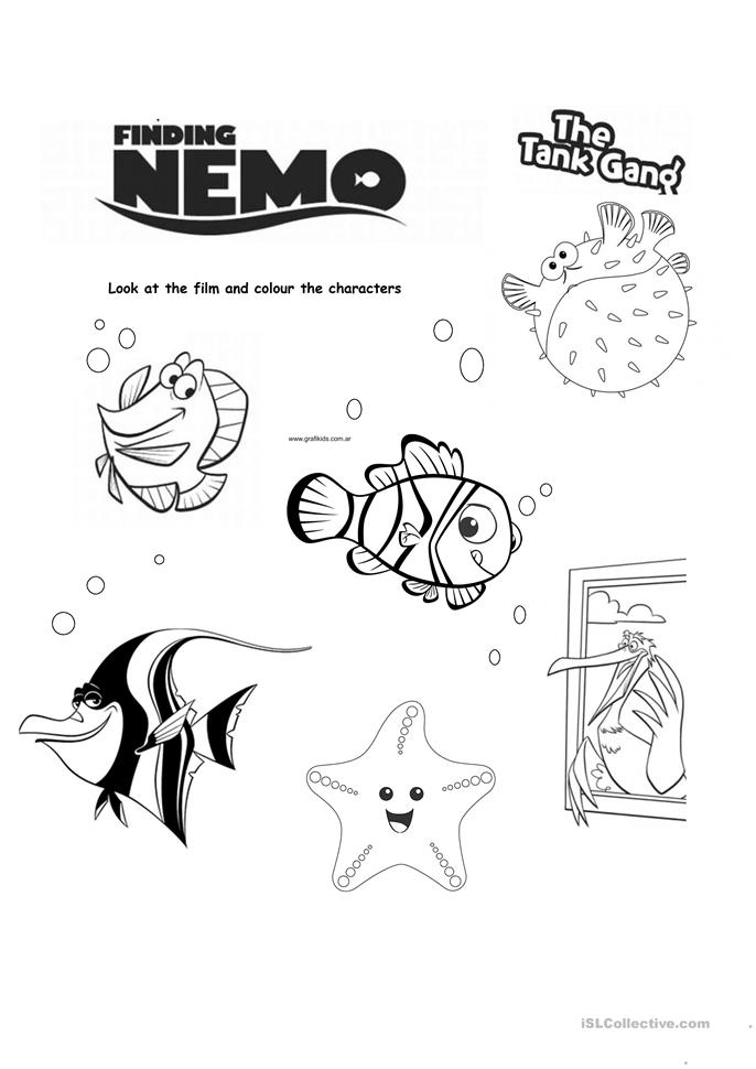 finding nemo for kinder worksheet - Free ESL printable worksheets made ...