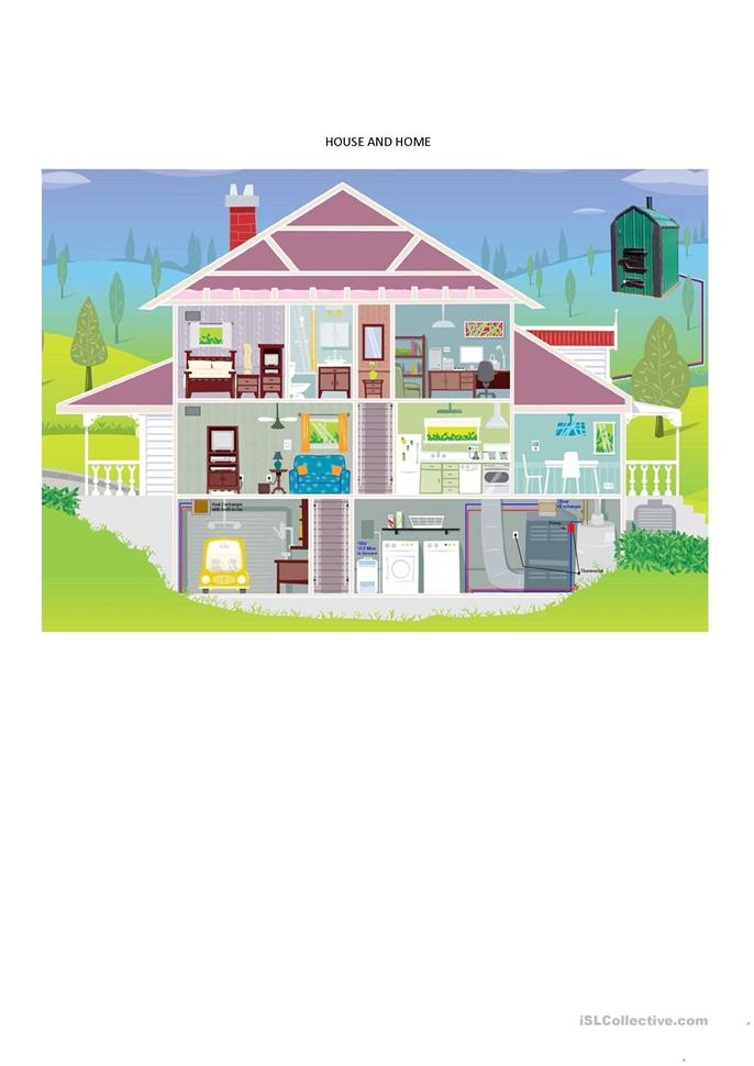 HOUSE AND HOME - ESL worksheets
