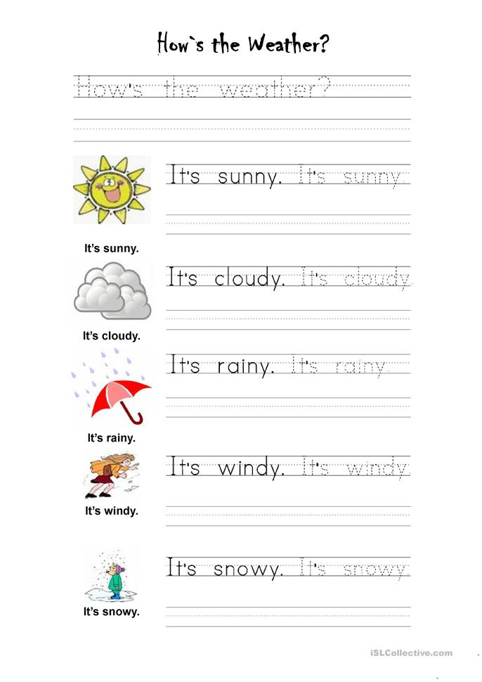How´s the weather - ESL worksheets