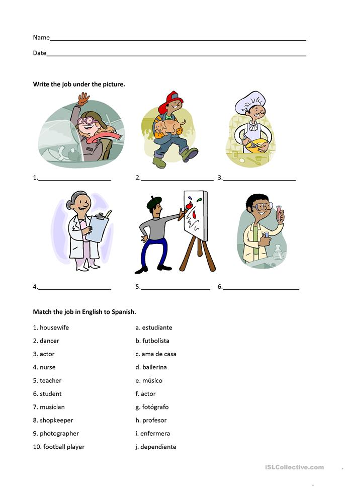 Jobs And Professions Worksheet Free Esl Printable Worksheets Made By ...