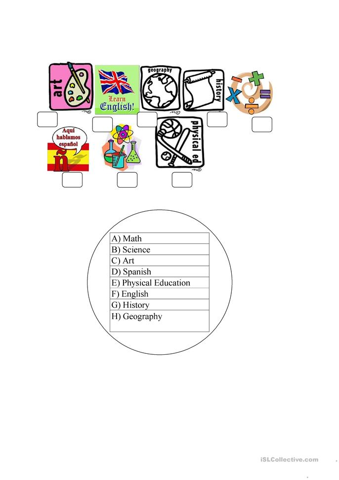 school subjects worksheet free esl printable worksheets made by teachers. Black Bedroom Furniture Sets. Home Design Ideas