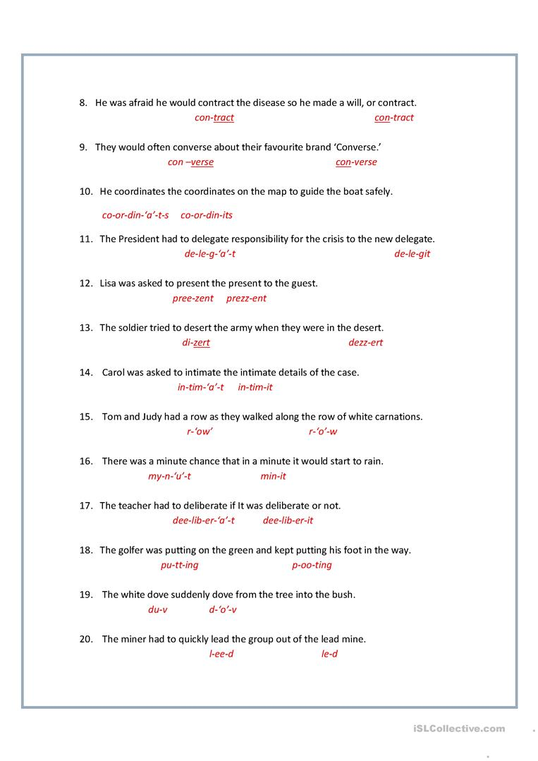 Uncategorized Homograph Worksheets homographs heteronyms worksheet free esl printable worksheets full screen