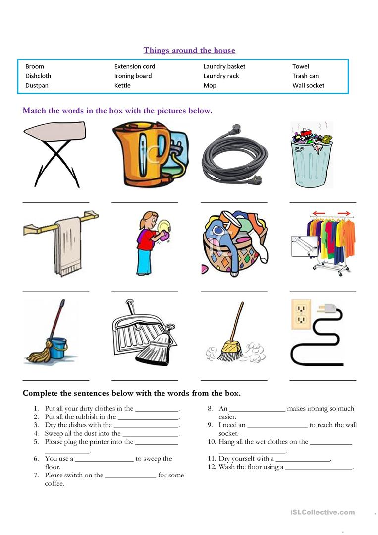 Free body diagram of household objects new wiring diagram 2018 12 free esl household items worksheets statics free body diagram examples free body diagram gravity free body shape on free body diagram of household pooptronica