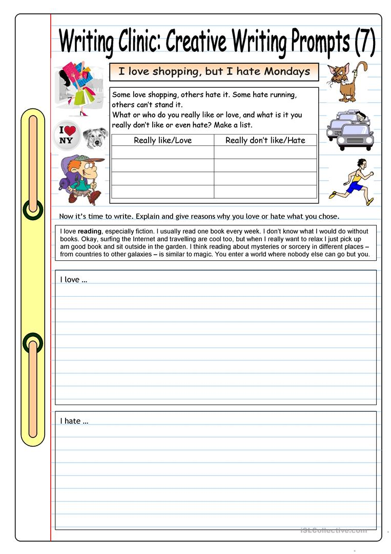 free creative writing worksheets Find and save ideas about creative writing worksheets on pinterest | see more ideas about creative writing, writing and writing a novel.