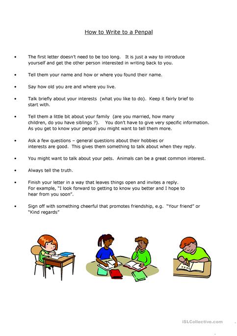 How to write a penpal letter worksheet free esl printable how to write a penpal letter altavistaventures Image collections
