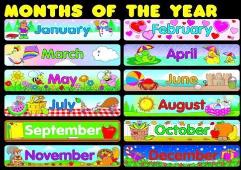 Calendar Months Cards Owl Polka Dot Hobo Stitched Theme Dotted