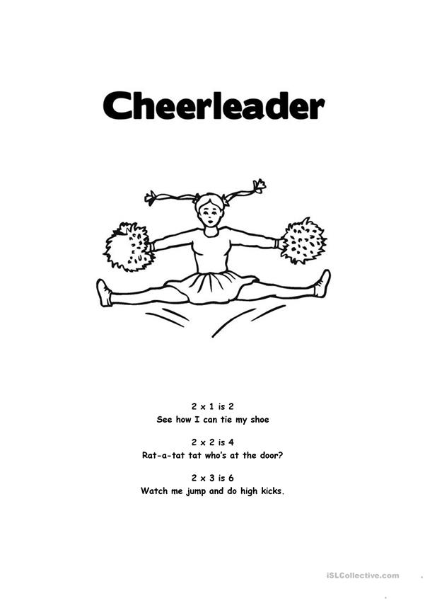 Cheerleader Times Table Chant
