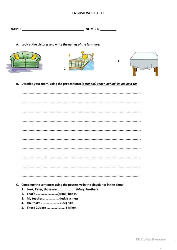 ENGLISH WORKSHEET