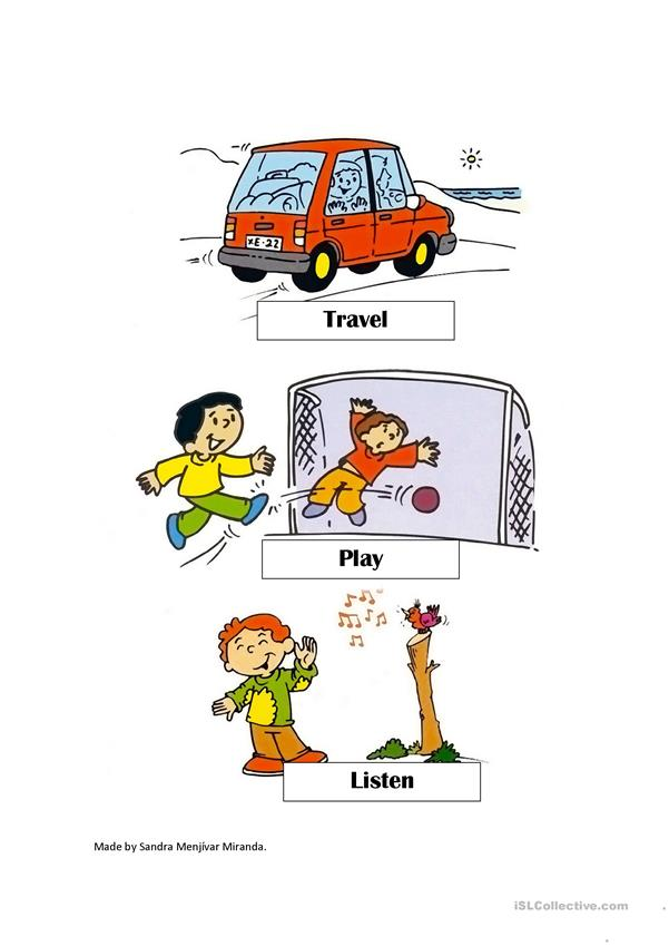 Helpful verbs pictures