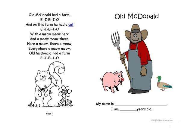 Old McDonald Had a Farm: Book