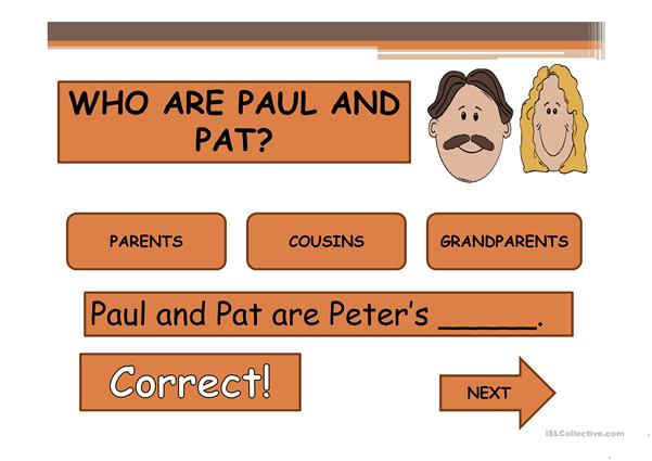 PETER'S FAMILY 2  PPT GAME