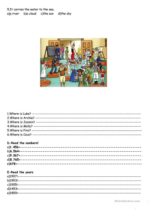Simple Present -prepositions