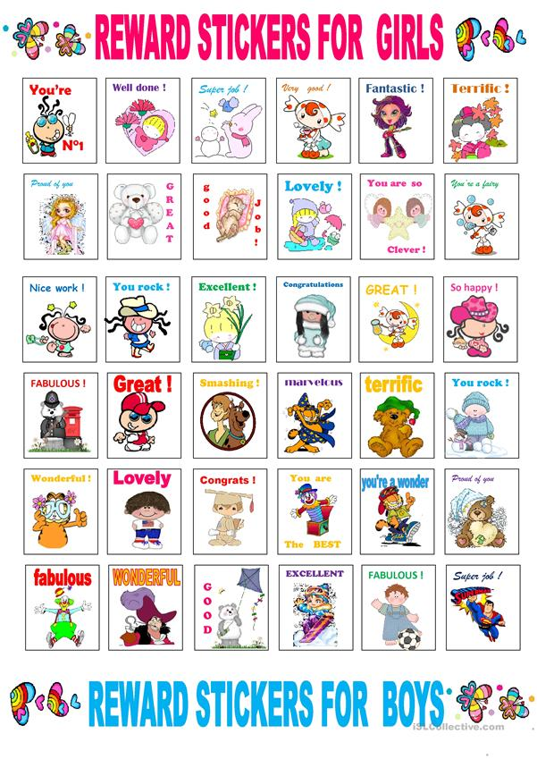 stickers for boys and girls