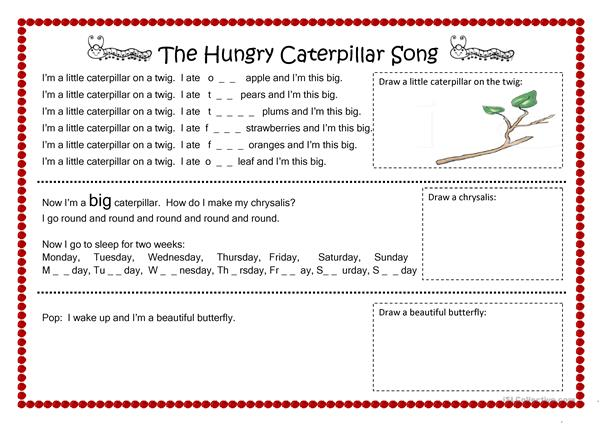 The Hungry Caterpillar Song