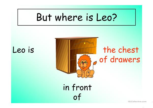Where is Leo  Prepositions
