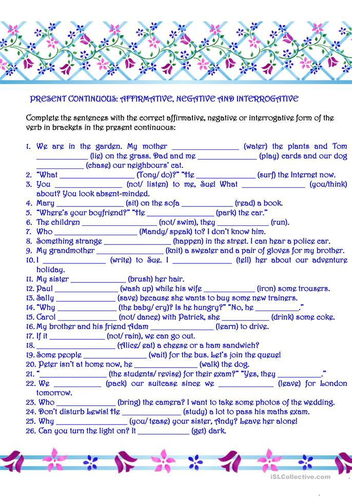 big_7726_present_continuous_affirmative_negative__interrogative_1 Teaching Countable And Uncountable Nouns on 4th grade worksheets, worksheets for grade 1, exercises intermediate, exercises pdf, cake chicken, worksheet for kids, worksheets grade 5, english practice,