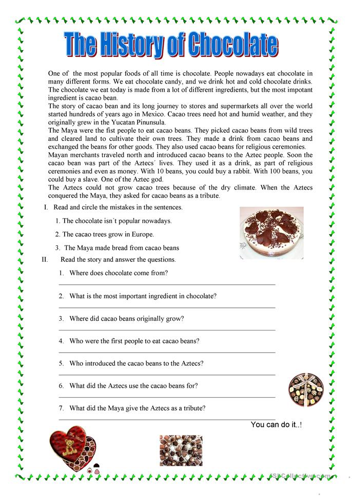 Reading Prehension Worksheet Free ESL Printable