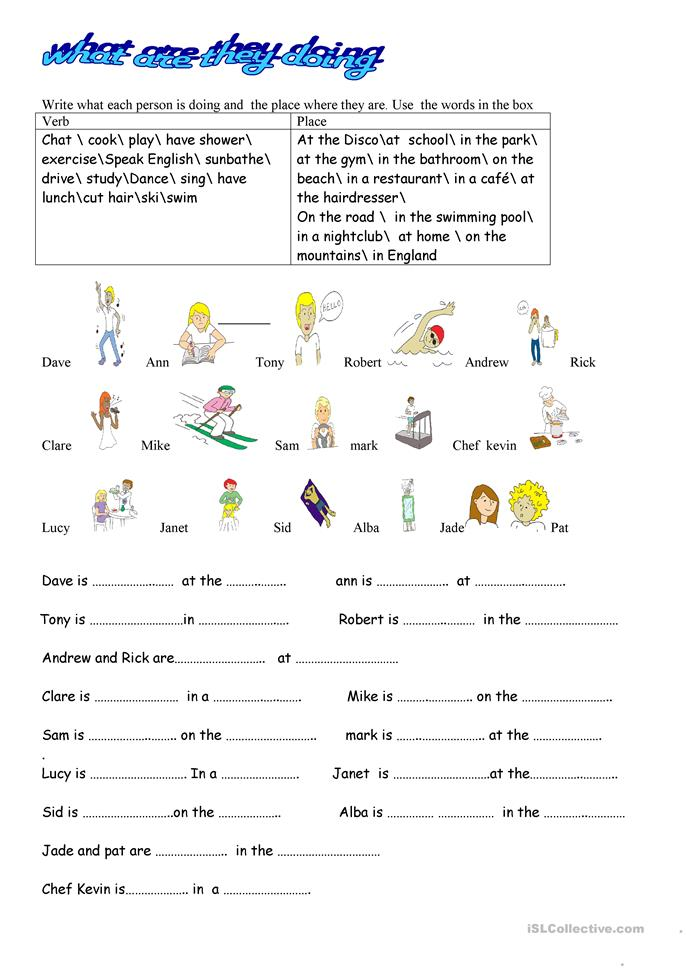 who what when where why worksheets where are they what are they doing worksheet free esl 772