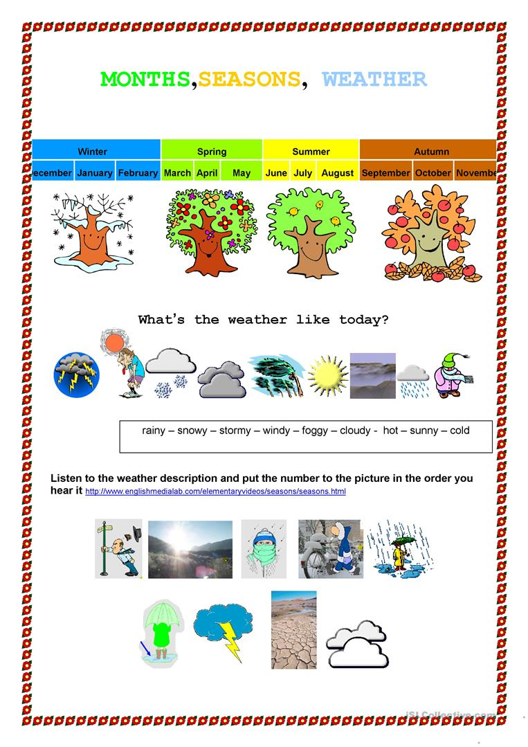 Worksheets Seasons Worksheets 228 free esl seasons worksheets month weather