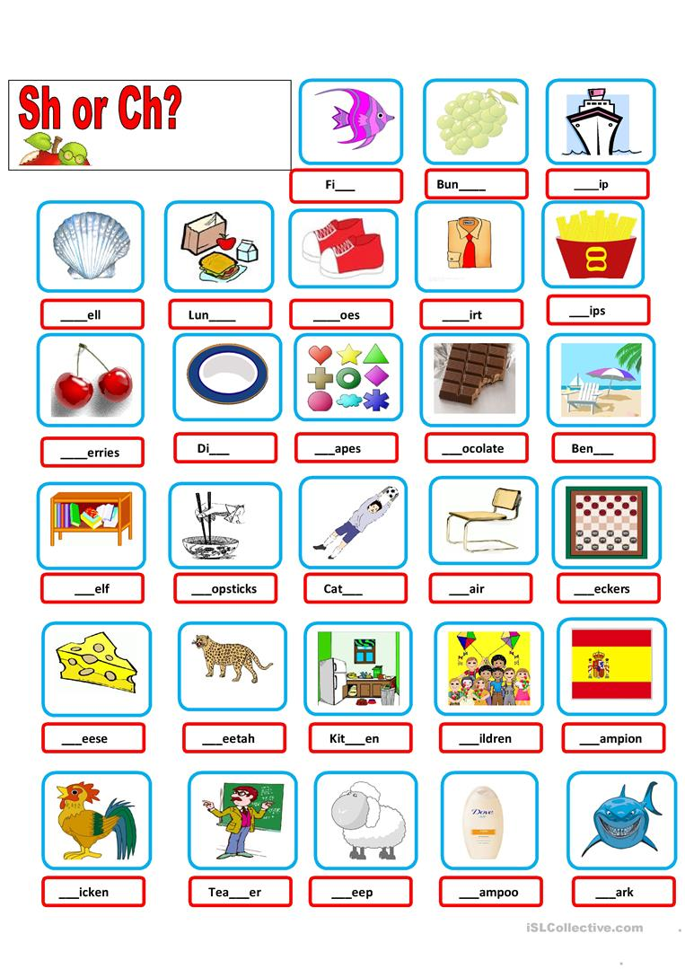 Worksheets Ch Sound Worksheets sh ch worksheet free esl printable worksheets made by teachers full screen
