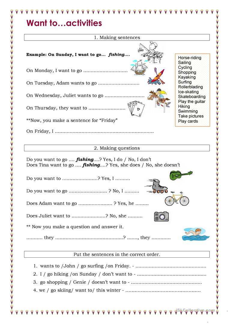 want to activities worksheet free esl printable worksheets