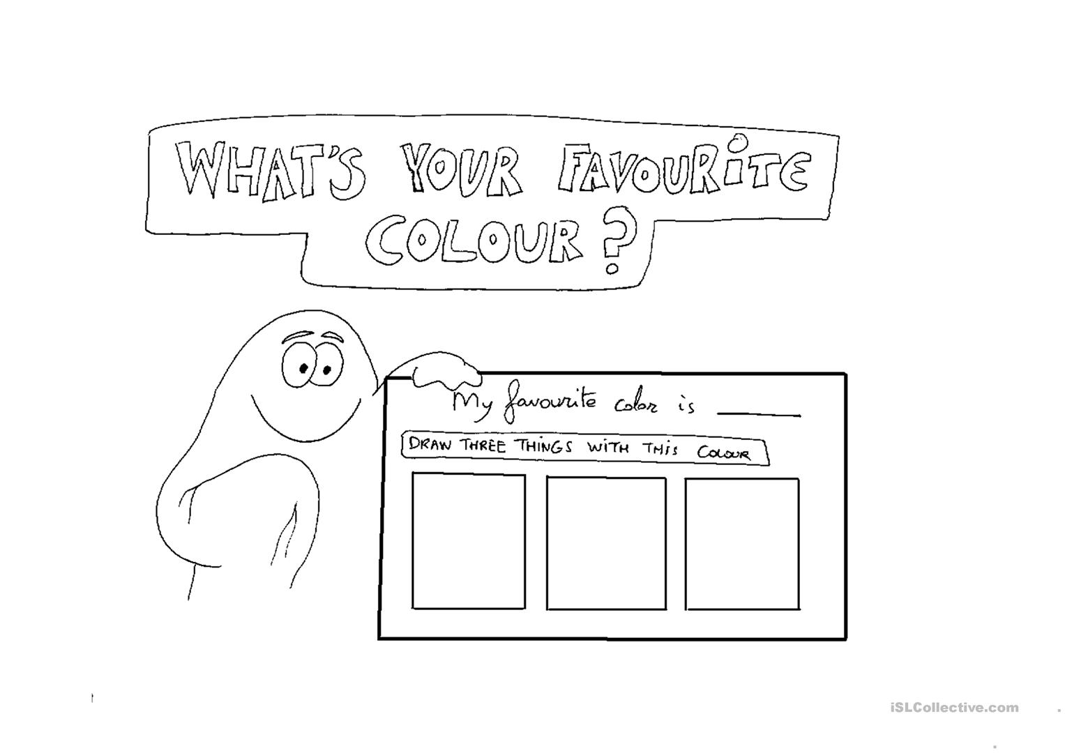 Whats Your Favourite Color Worksheet Free Esl Printable