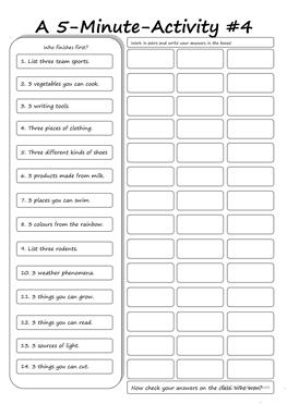 48 FREE ESL fun activity worksheets