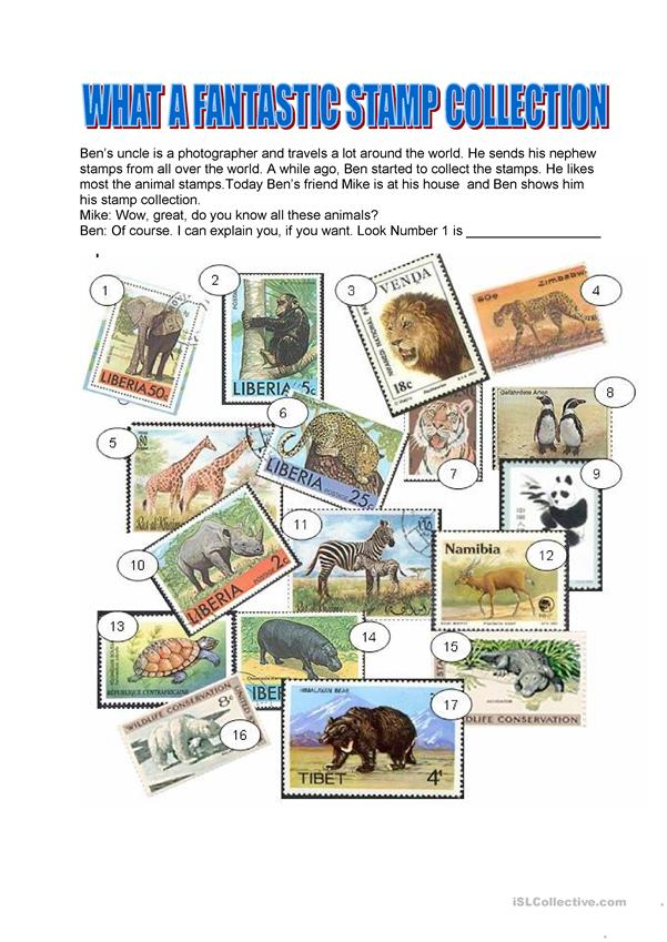 Adjevtives - What a fantastic stamp collection