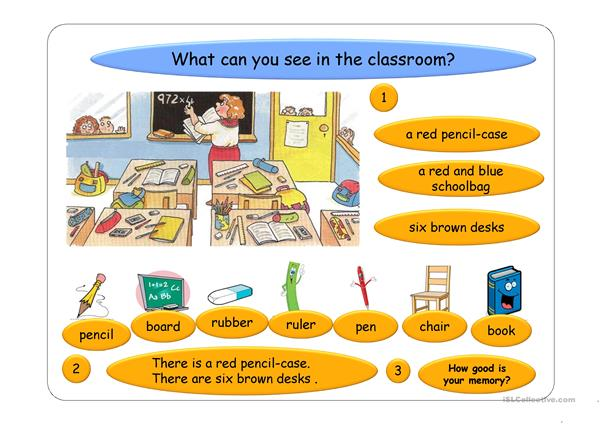 Colours  and Classroom Objects ppt