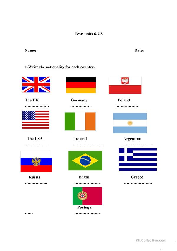 Contries and nationalities-demonstrative pronouns