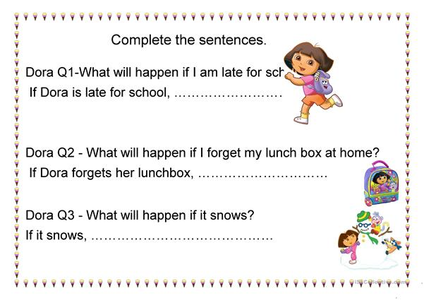 Dora Worksheet-1st Conditional