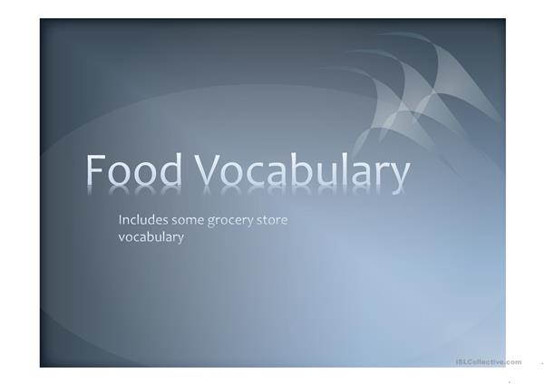 Grocery store vocabulary