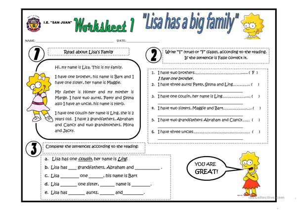 Lisa has a big family