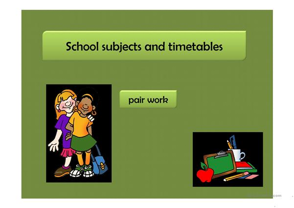 School Subjects and Timetables